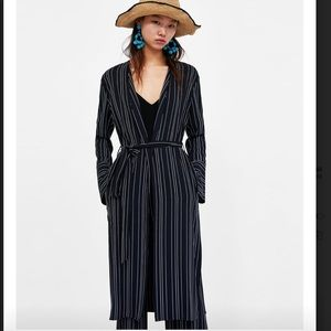 Zara Long Stripped Cardigan